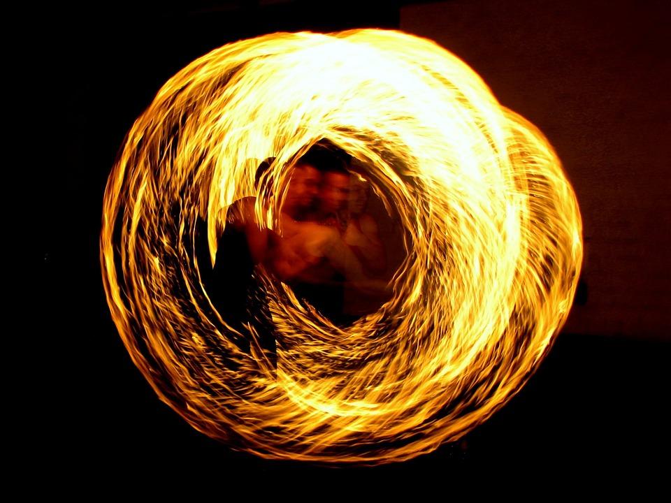 LichterMeer am Suedstrand mit Feuershow